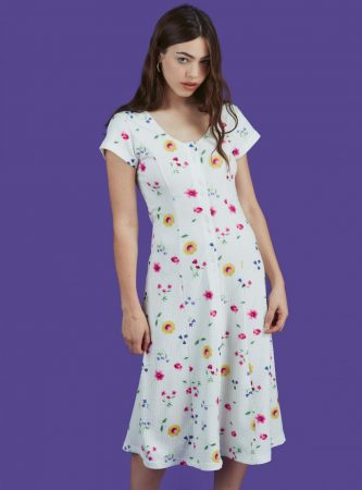 Dresses   Unif Womens Bloom Dress White Floral