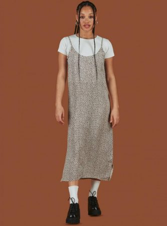 Dresses | Unif Womens Bunny Dress Brown Floral
