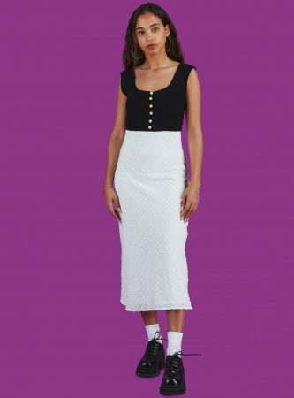 Dresses | Unif Womens Clubhouse Dress Black/White