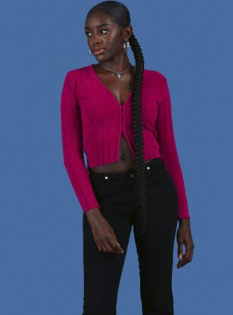 Sweaters   Unif Womens Blur Sweater Berry