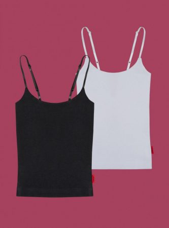 Tops   Unif Womens Cami Two-Pack Black/White
