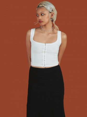 Tops | Unif Womens Dew Top White