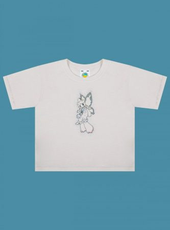 Tops   Unif Womens Fairy Bear Baby Tee Off White