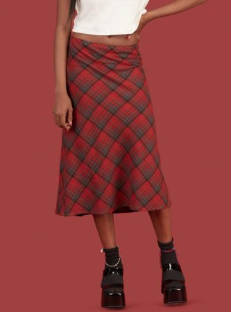 Bottoms | Unif Womens Molly Skirt Red Plaid