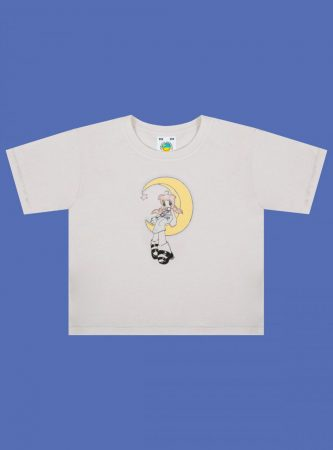 Tees | Unif Womens Mayu'S Lullaby Baby Tee Vintage White