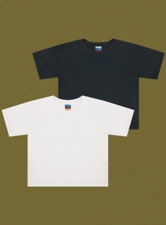 Tops | Unif Womens Baby Tee Two-Pack Black/White